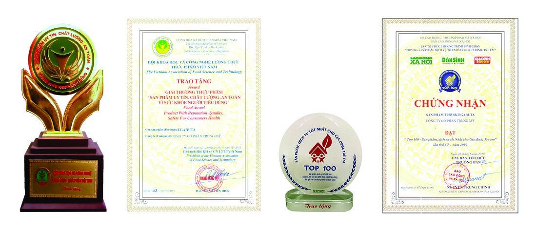 Những giải thưởng danh giá mà cốm Egaruta đã vinh dự nhận được